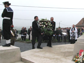 John & Shane laying the wreath